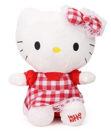 Hello Kitty Soft Toy Red White - 25 cm