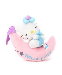 Hello Kitty Plush Soft Toy With Moon Light Blue - 30 cm