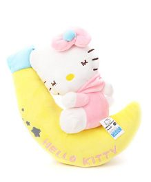 Hello Kitty Plush Soft Toy With Moon Light Pink - 30 cm