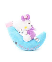 Hello Kitty Plush Soft Toy With Moon Light Purple - 30 cm