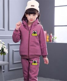 Tickles 4 U Warm Sleeveless Jacket Pants & Sweatshirt Set - Purple
