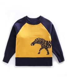 Tickles 4 U Horse Sweater - Yellow & Blue