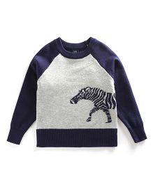 Tickles 4 U Horse Sweater - Grey & Blue