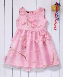 Pspeaches Organza Party Dress - White & Pink