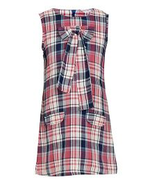 Bandbox Sleeveless Check Mate Dress - Blue & Pink