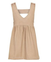 Bandbox Sleeveless Corduroy Dress - Beige