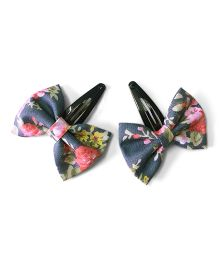 Knotty Ribbons Set Of Two Bow Hair Clips - Pink