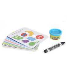 Play Doh Dry Erase Activity Cards - Multi Color
