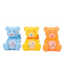 Smiles Creation Bear Bath Toy Pack of 3 - Blue Orange Yellow