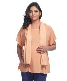 Kriti Full Sleeves Maternity Tunic - Peach