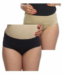Kriti Maternity Panties Pack of 2 - Black Cream