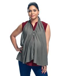 Kriti Solid Colour Maternity Poncho - Grey