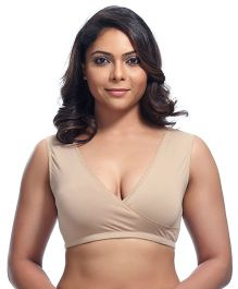 Kriti Maternity Sleep Bra Lace Trim - Nude Color