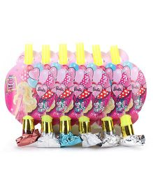 Barbie Blowout Horns Pack of 6 - Yellow