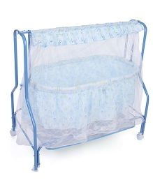 Mee Mee Cradle With Mosquito Net Smile Print MM 95A - Blue