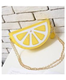 Milonee Lemon Piece Quirky Sling Bag - Yellow
