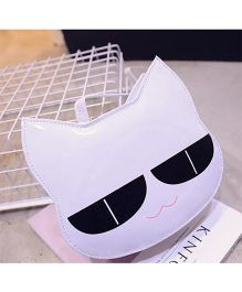 Milonee Cat Face Quirky Sling Bag - White