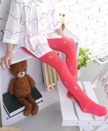 Dazzling Dolls Waist High Teddy Bear Stockings - Red