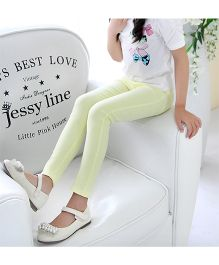 Dazzling Dolls Stretchable Jeggings - Yellow