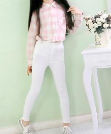 Dazzling Dolls Stretchable Jeggings - White