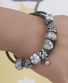 Dazzling Dolls Sterling Braided Bracelet - Silver