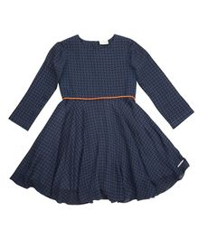 Moobaa Dress With Contrast Cord - Blue