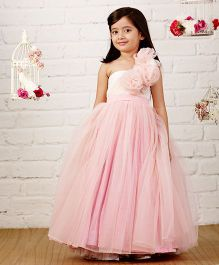 Pinkcow Ruffled Gown With Sequins - Pink