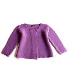 Dazzling Dolls Button Cardigan - Purple