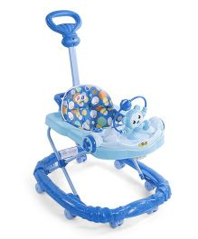 Musical Baby Walker With Toy Tray - Blue