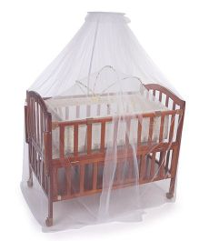 Mee Mee Wooden Baby Cot MM 705 A - Brown