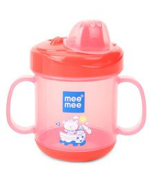 Mee Mee No Spill Sipper Cup Twin Handle Pink - 180 ml