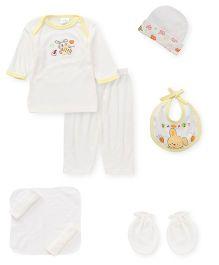 Babyhug Gift Set Pack of 9 - White Yellow