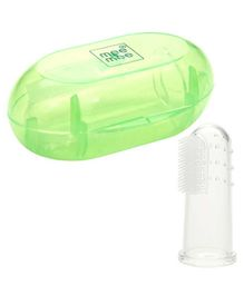 Mee Mee Finger Brush With Cover - Green