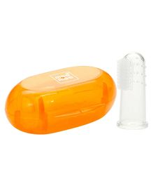 Mee Mee Finger Brush With Cover - Orange