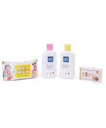 Mee Mee All In One Caring Gift Set Pack Of 4 - Multi Color