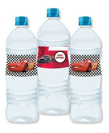 Disney Pixar Cars Water Bottle Labels Pack of 10 - Multi Color