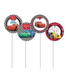 Disney Pixar Cars Cupcake & Food Toppers Pack of 10 - Multi Color