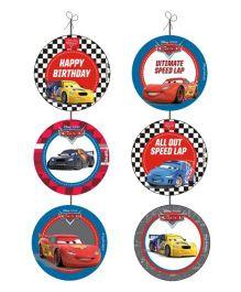 Disney Pixar Cars Danglers Pack of 6 - Multi Color