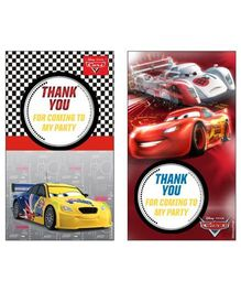 Disney Pixar Cars Thankyou Cards Pack of 10 - Multi Color