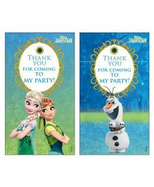 Disney Frozen Fever Thankyou Cards Pack of 10 - Green Blue