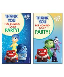 Disney Inside Out Thankyou Cards Pack of 10 - Multi Color