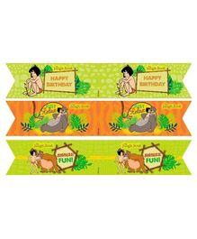Jungle Book Drink Straws Pack of 10 - Green Orange
