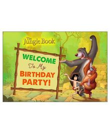 Jungle Book Welcome Banner - Green