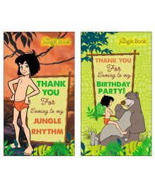Jungle Book Thankyou Cards Pack of 10 - Multi Color