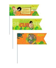 Jungle Book Picks Pack of 20 - Green Orange