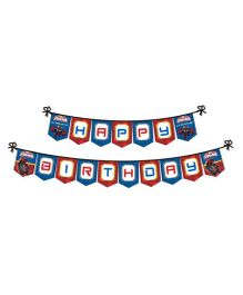 Marvel Spiderman Happy Birthday Banner - Red Blue