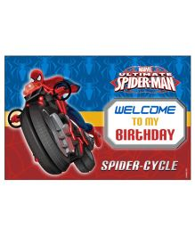 Marvel Spiderman Welcome Banner - Blue Red