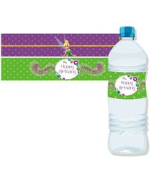 Disney Fairies Tinkerbell Bottle Labels Pack of 10 - Green Purple
