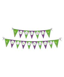 Disney Fairies Tinkerbell Happy Birthday Banner - Green Purple