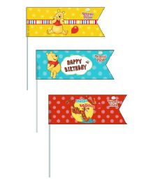 Disney Winnie The Pooh Picks Pack of 20 - Red Green Yellow